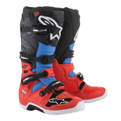 Ботуши ALPINESTARS Tech 7 Red Fluo/Cyan/Grey/Black