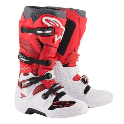 Ботуши ALPINESTARS Tech 7 White/Red/Burgundy