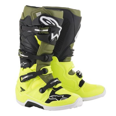 Ботуши ALPINESTARS TECH 7 yellow fluo/military green/black