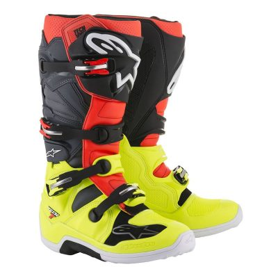Ботуши ALPINESTARS TECH 7 yellow fluo/red fluo/grey/black