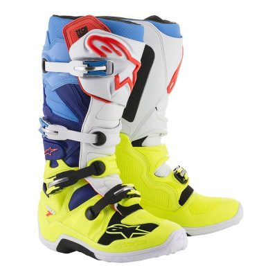 Ботуши ALPINESTARS Tech 7 Yellow Fluo/White/Blue/Cyan
