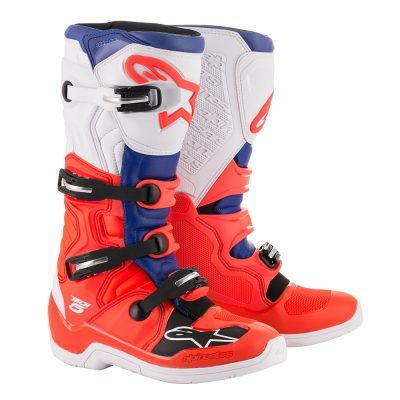 Ботуши ALPINESTARS TECH 5 red fluo/blue/white