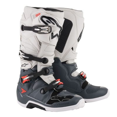 Ботуши ALPINESTARS Tech 7 Dark Grey/Light Grey/Red Fluo