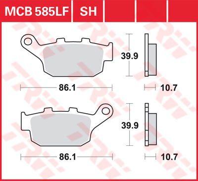 Накладки TRW MCB585