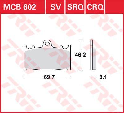 Накладки TRW MCB602