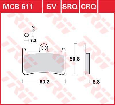 Накладки TRW MCB611
