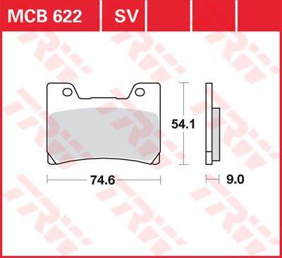 Накладки TRW MCB622