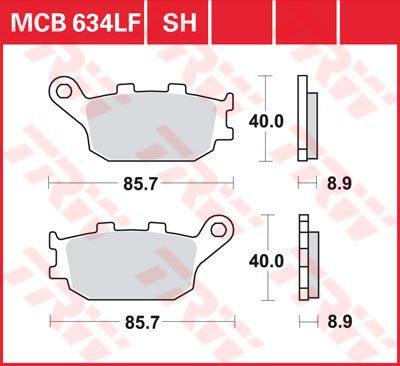 Накладки TRW MCB634