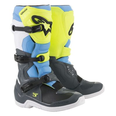 Ботуши ALPINESTARS Tech 3 Cool Gray/Yellow Fluo/Cyan