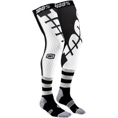 Чорапи за наколенки 100% REV Black/White