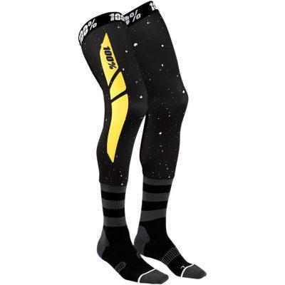 Чорапи за наколенки 100% REV Black/Yellow