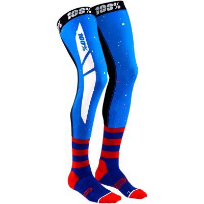 Чорапи за наколенки 100% REV Blue/Red