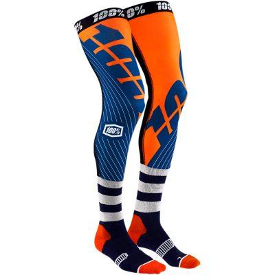 Чорапи за наколенки 100% REV Navy/Orange