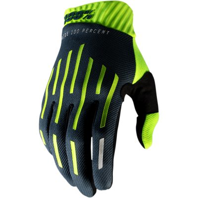 Ръкавици 100% Ridefit Fluo Yellow/Charcoal