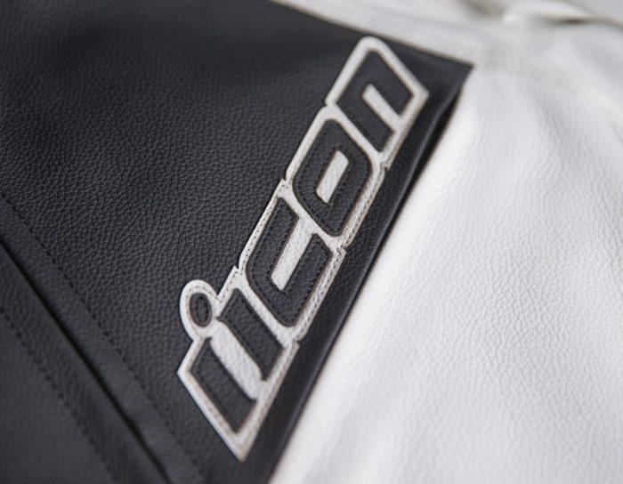 Кожено аке ICON Hypersport 2 White