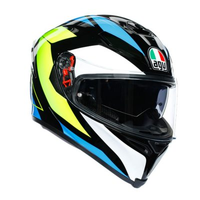 AGV K-5 S Multi Core Black/Cyan/Yellow fluo