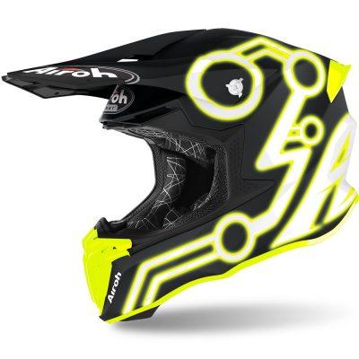 Каска AIROH Twist 2.0 Neon Yellow Matt