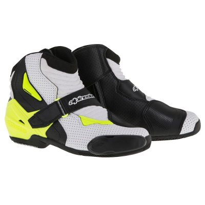 ALPINESTARS SMX-1 R Vented Black/White/Yellow Fluo