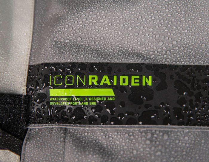 Водоустйчиво яке ICON Raiden Grey/Hi-viz