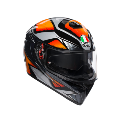 Каска AGV K3 SV Liquefy Black/Orange