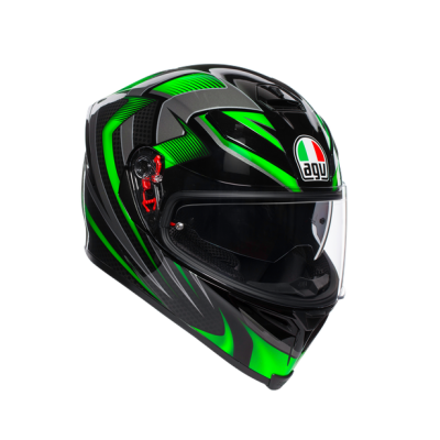 AGV K5 S Hurricane Black/Green