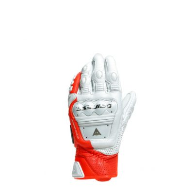 Ръкавици DAINESE 4-Stroke White/Fluo Red