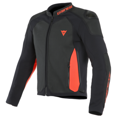 Яке Dainese Interpida Перфорирано Black/Fluo-Red