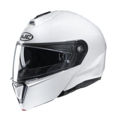 HJC i90 Pearl White