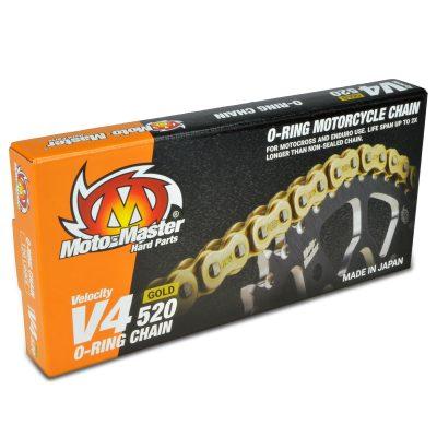 Верига Moto Master V4 Gold O-Ring – 520
