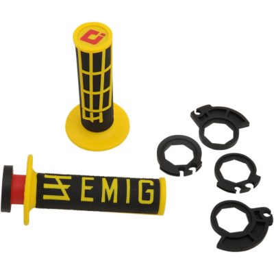 Дръжки ODI Lock-On Emig v2 Black/Yellow