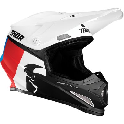 Каска THOR Sector Racer White/Blue/Red