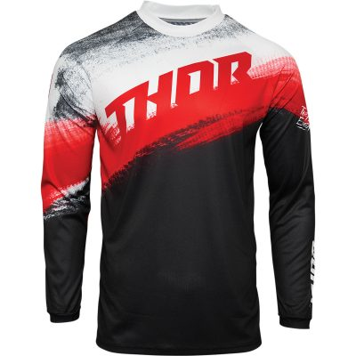 Детско джърси THOR Sector Valor Red/Black