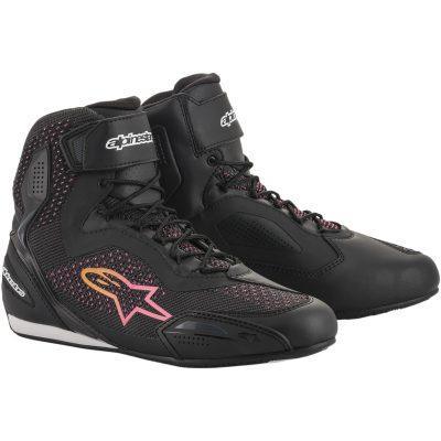 Дамски обувки ALPINESTARS Stella Faster-3 Rideknit Black/Yellow/Pink