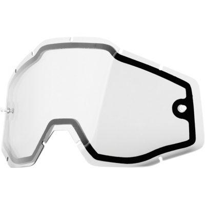 Двойна плака за очила 100% Racecraft/Accuri/Strata – Clear