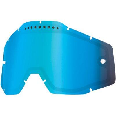 Вентилирана двойна плака за очила 100% Racecraft/Accuri/Strata – Mirror Blue