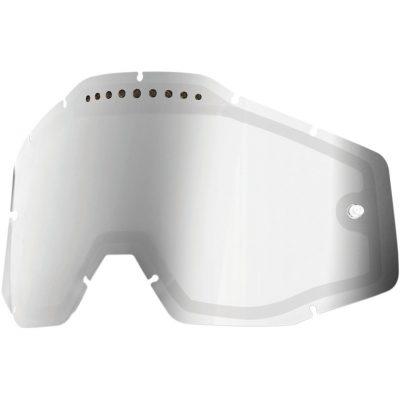 Вентилирана двойна плака за очила 100% Racecraft/Accuri/Strata – Mirror Silver