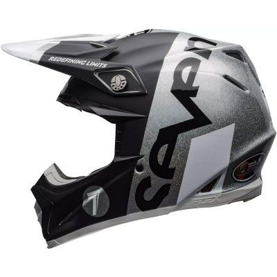 Каска SEVEN Moto-9 Flex Galaxy Matte/Gloss Black/Silver