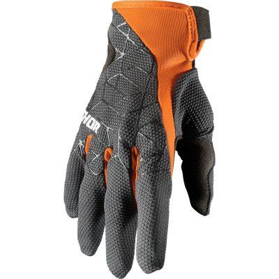 Ръкавици THOR Draft Charcoal/Orange