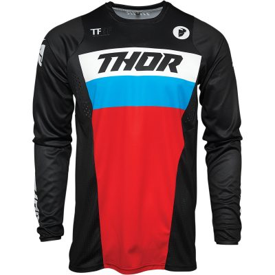Детско джърси THOR Pulse Racer Black/Red/Blue
