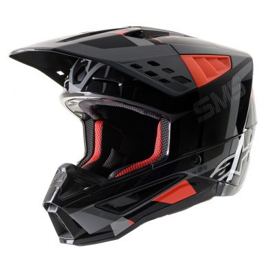 Каска ALPINESTARS SM5 Anthracite/Red Fluo/Gray Camo