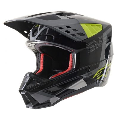 Каска ALPINESTARS SM5 Anthracite/Yellow Fluo/Gray Camo