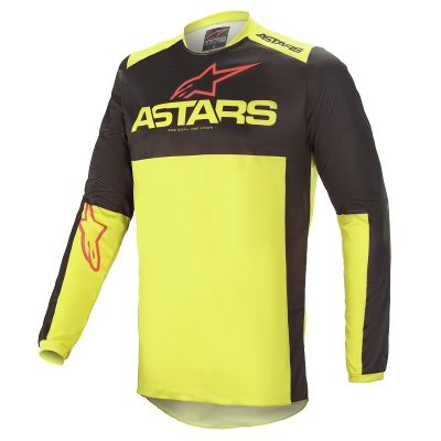Блуза ALPINESTARS Fluid Tripple Black/Yellow Fluo/Bright Red