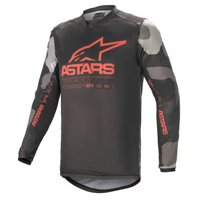 Блуза ALPINESTARS Racer Tactical Gray Camo Red Fluo