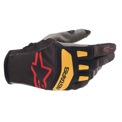 Ръкавици ALPINESTARS Techstar Black/Bright Red/Orange