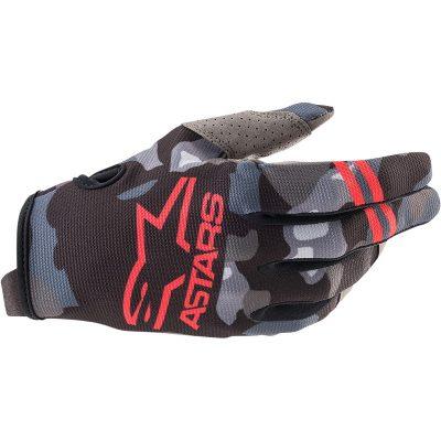 Ръкавици ALPINESTARS Radar Gray Camo/Red Fluo