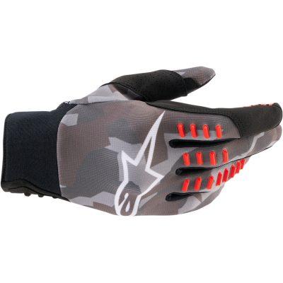 Ръкавици ALPINESTARS SMX-E Gray Camo/Red Fluo