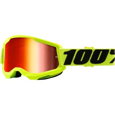 Очила 100% Strata 2 Fluo Yellow