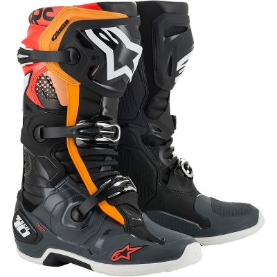 Ботуши ALPINESTARS Tech 10 Black/Grey/Orange/Red Fluorescent
