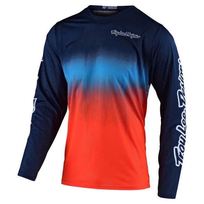 Блуза Troy Lee Designs GP Air Stain'D Navy/Orange
