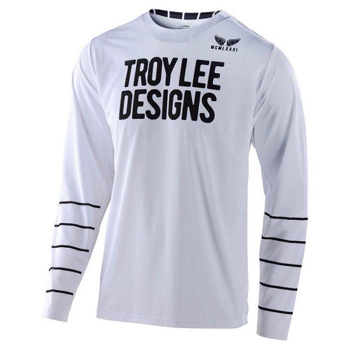 Блуза Troy Lee Designs GP Air Pinestripe White/Black